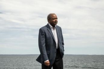 Eddie Brown at the seaside
