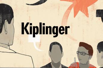 The inscription kiplinger and four people